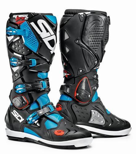 Säljes Sidi S.R.S Crossfire 2 Cross Stövlar Light Blue/Black - Fri frakt