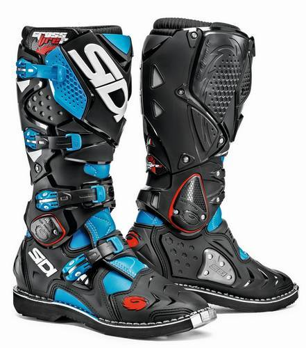 Säljes Sidi Crossfire 2 Cross Stövlar Light Blue/Black - Fri frakt